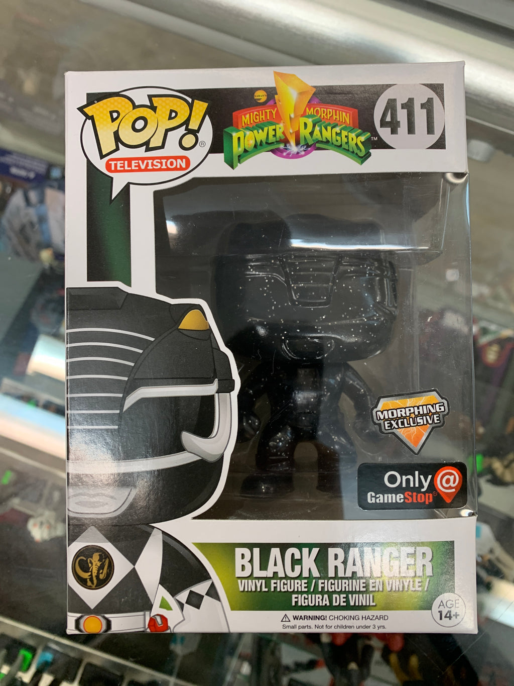 Funko POP! Television Mighty Morphin Power Rangers Black Ranger #411 GameStop Morphing Exclusive
