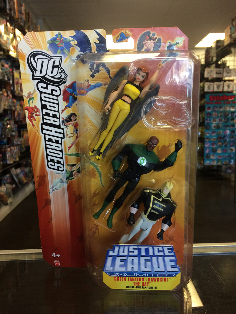 Mattel DC Super Heroes Justice League Unlimited Green Lantern, Hawkgirl, The Ray