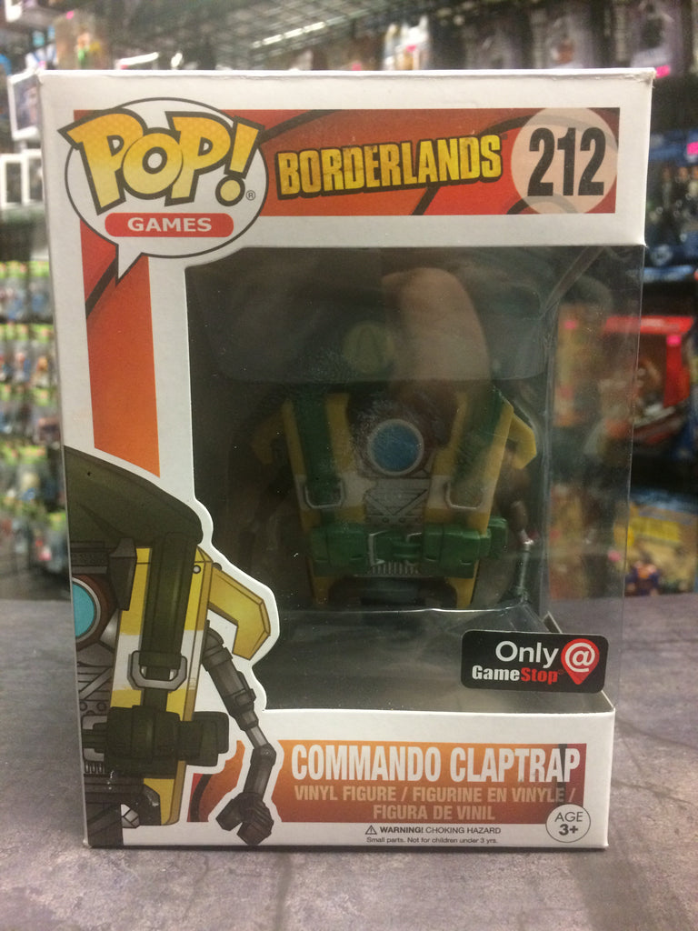 Funko Pop! Games Borderlands Commando Claptrap #212 (GameStop exclusive)