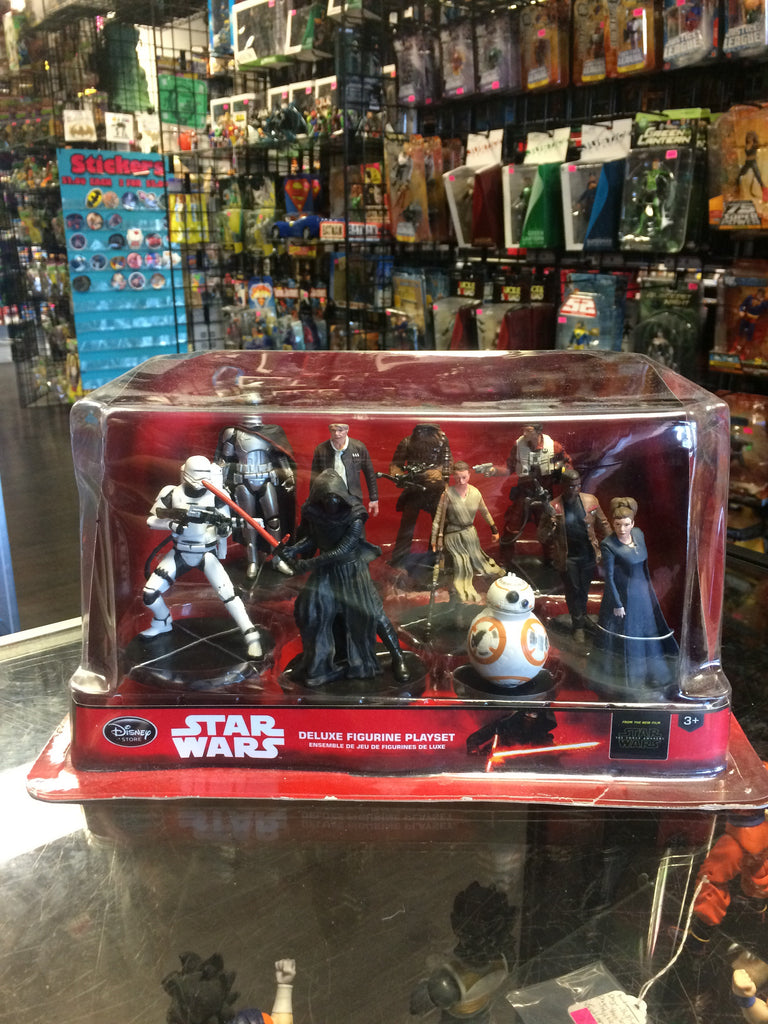 Disney Store Star Wars The Force Awakens Deluxe Figurine Playset