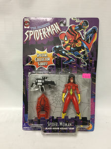 ToyBiz Marvel Comics The Amazing Spider-Man Special Collector Series Spider-Woman Black Widow Assault Gear