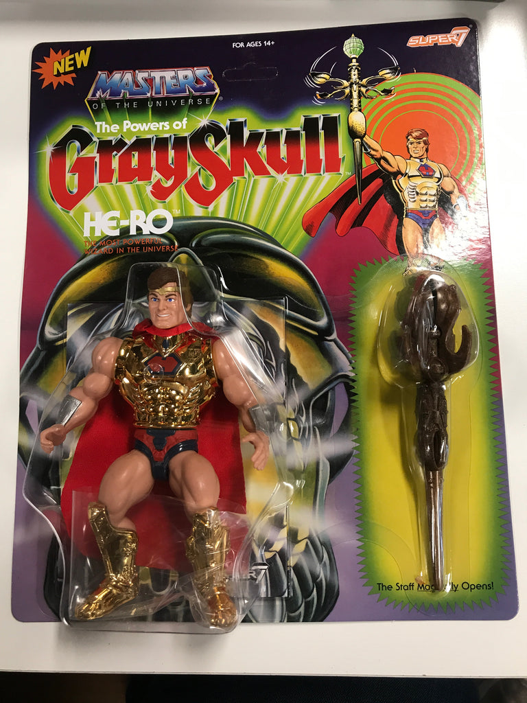Super 7 Masters of the Universe The Powers of GreySkull He-Ro MOTU
