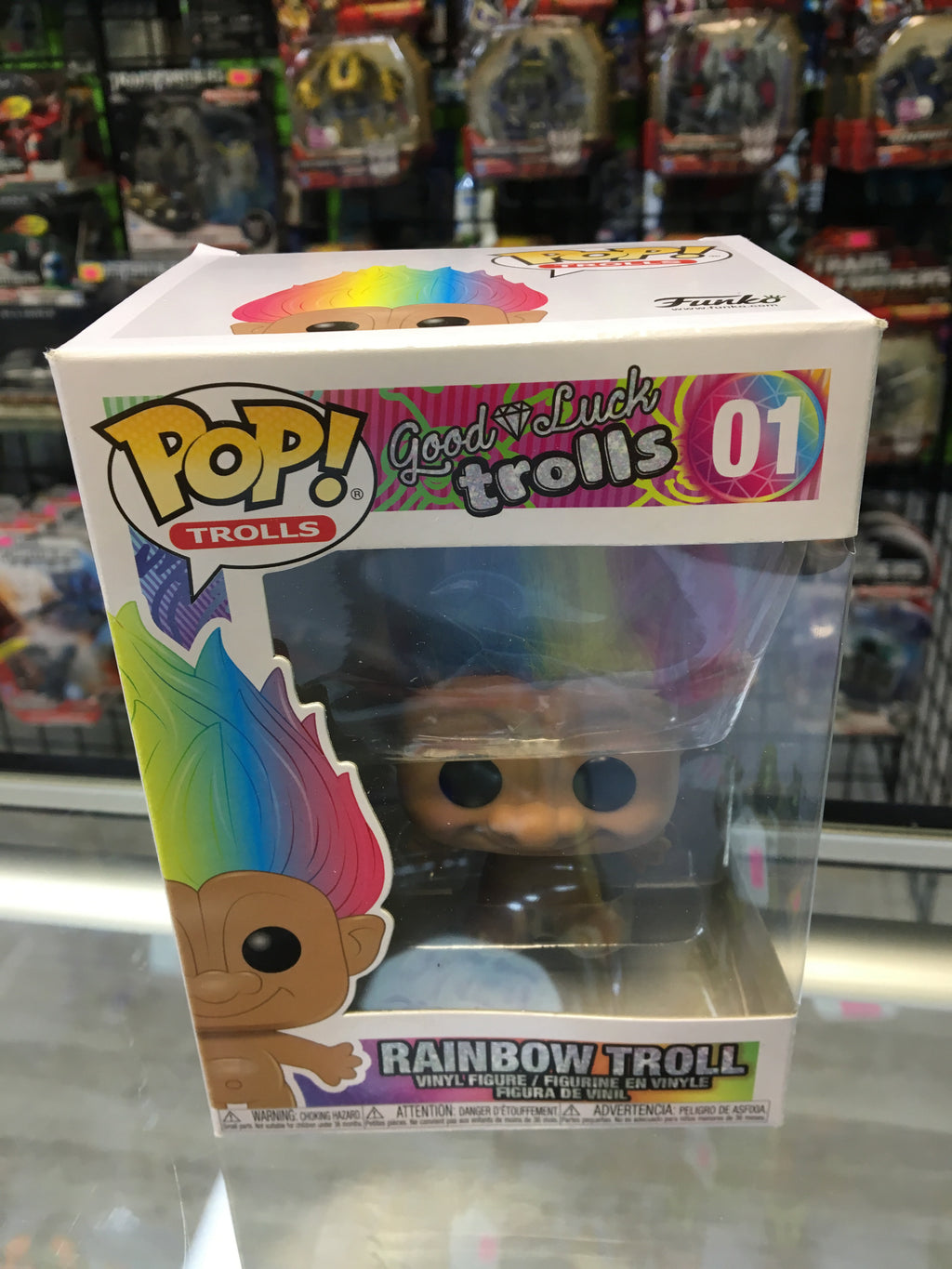 Funko Pop! Trolls, good luck trolls Rainbow Trolls 01