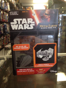 Star Wars Metal Earth 3D Metal Model Kits Darth Vader's Tie Advanced x1 Starfighter Fascinations