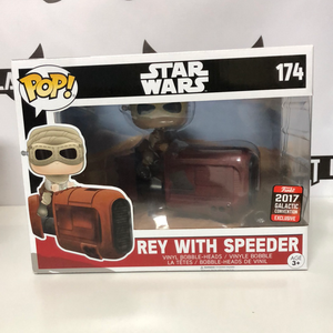 Funko Pop! Star Wars #174: Rey with Speeder (2017 Galactic Convention Shared Exclusive)