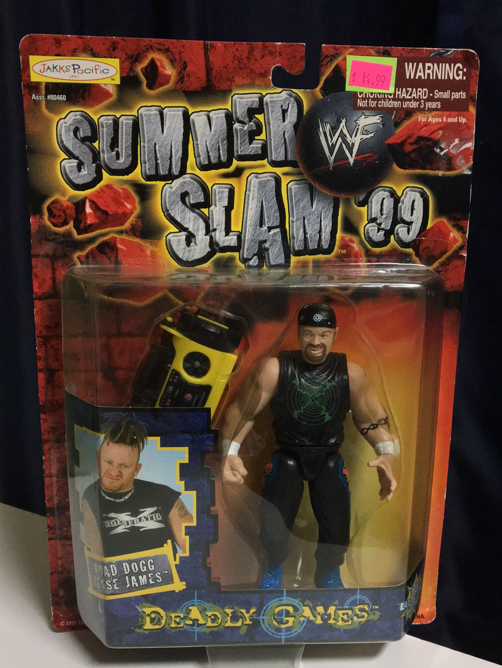 WWF Jakks Pacific Summer Slam 99 Road Dogg Jesse James