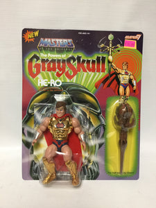 Super 7 New Masters Of The Universe The Powers Of Grayskull He-Ro