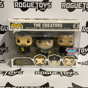 Funko POP! Game of Thrones the Creators 3 Pack 2018 Fall Convention Exclusive