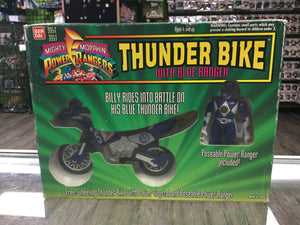 BANDAI Mighty Morphin Power Rangers, Thunder Bike with Blue Ranger (1994)