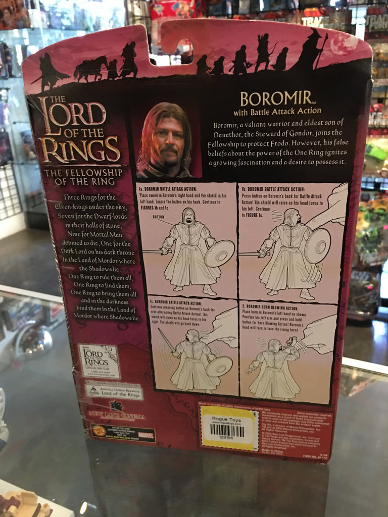 Lord of the Rings Fellowship of the Ring Boromir with Battle Attack Action