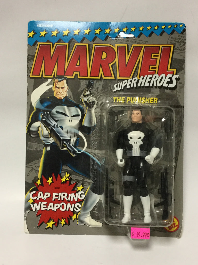 Toy Biz Marvel Super Heroes The Punisher With Cap Firing Weapons