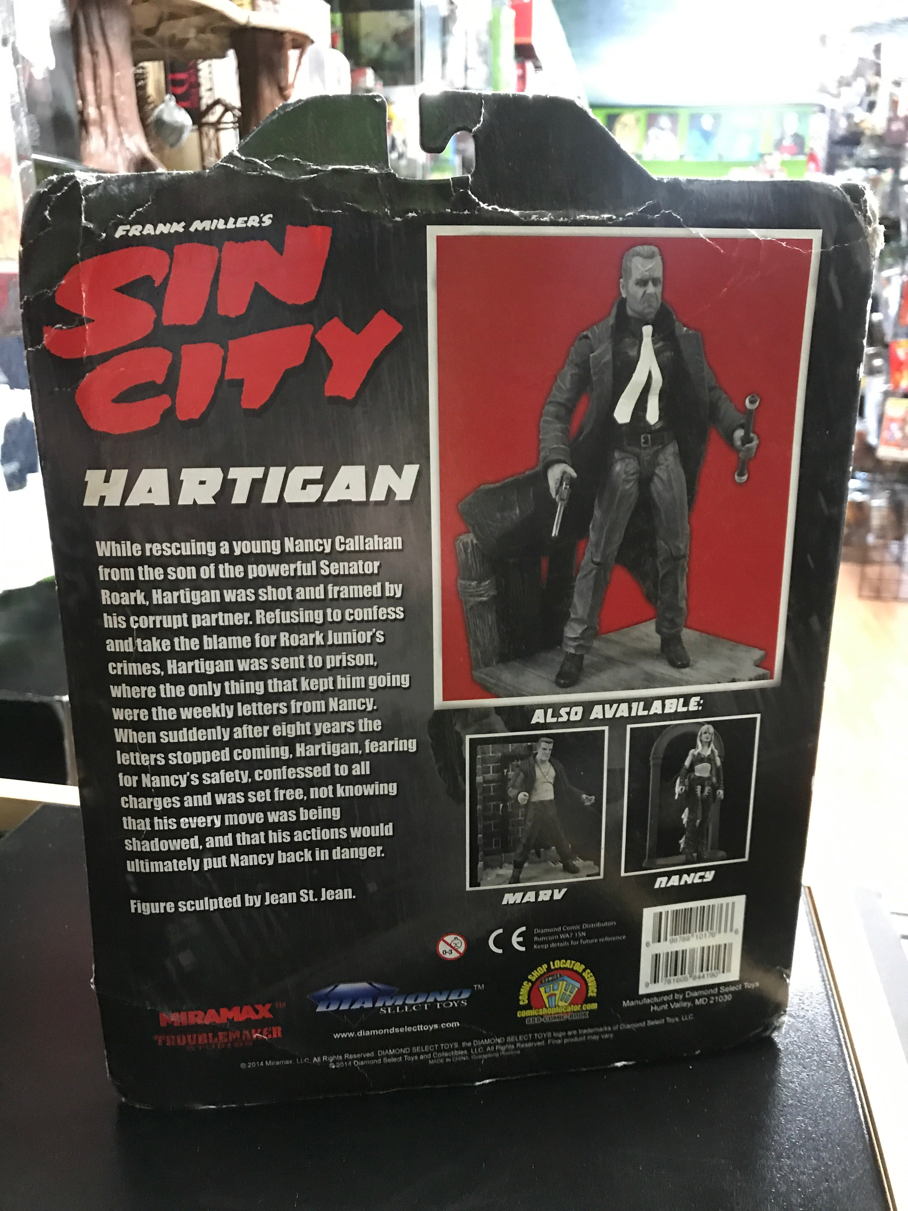 Diamond Select New! Frank Miller/'s Sin City Hartigan Deluxe Action Figure
