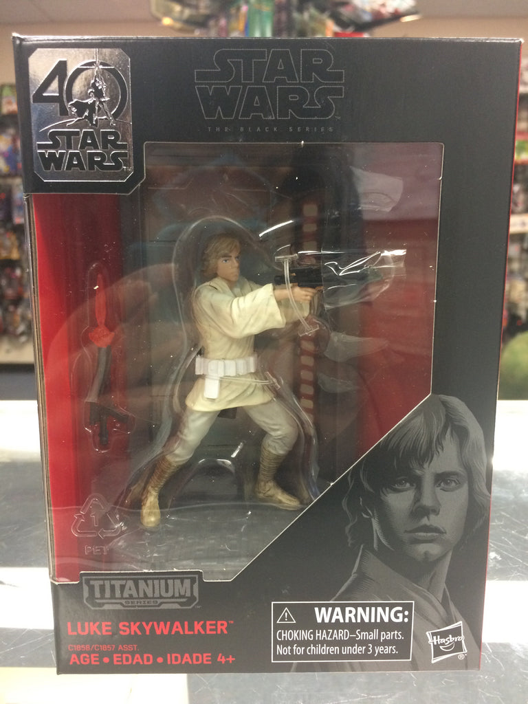Star Wars 40th Anniversary The Black Series Luke Skywalker Titanium Series