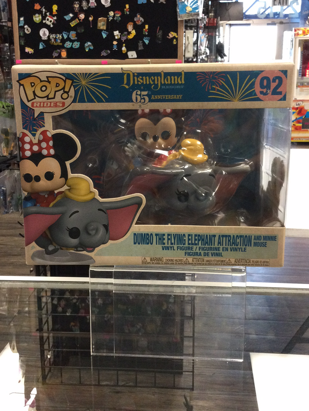 FUNKO POP! Rides #92, Disneyland Resort 65th Anniversary, Dumbo the Flying Elephant Attraction & Minnie Mouse