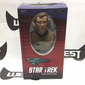 SIDESHOW COLLECTIBLES Star Trek Limited Edition Bust, Kirk 2881/5000