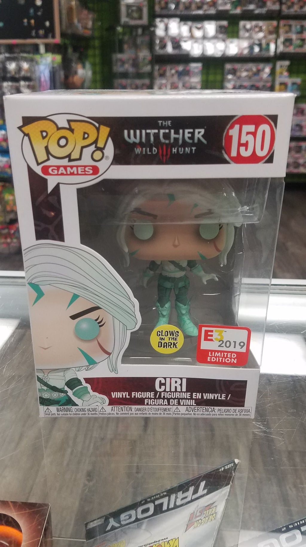 FUNKO POP! Games #150, The Witcher 3: Wild Hunt, Ciri (Glows in the Dark, E3 2019 Limited Edition)