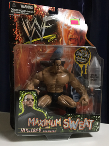 WWF Jakks Pacific Maximum Sweat The Rock