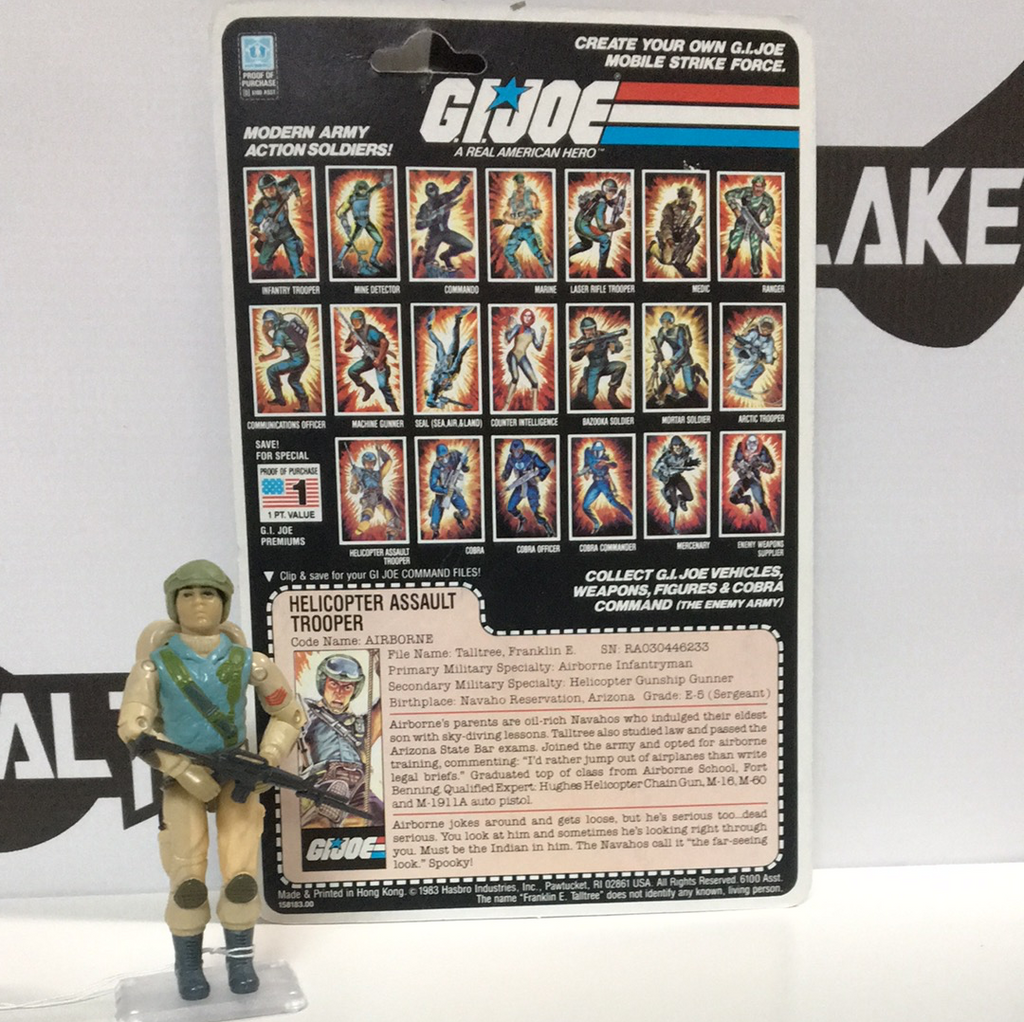Hasbro G.I. Joe Airborne with original uncut card