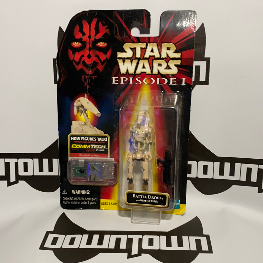 Hasbro Star Wars Episode 1 Comm Tech Battle Droid