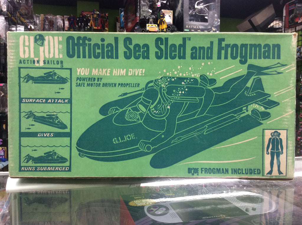 G.I. Joe Adventure Team Sailor Official Sea Sled And Frogman