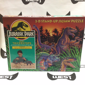 MILTON BRADLEY Jurassic Park 3-D Stand-Up Jigsaw Puzzle, Baby Triceratops (1992)