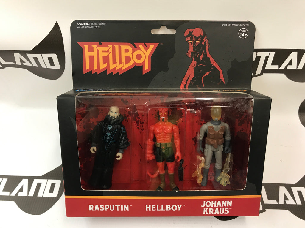 Super 7 ReAction Figures Hellboy Pack A: Rasputin, Hellboy & Johann Kraus
