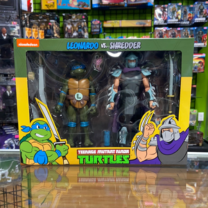 Neca Teenage Mutant Ninja Turtles Leonardo vs Shredder