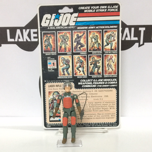 Hasbro G.I. Joe Flash V-1 straight arm with original 9 back uncut card