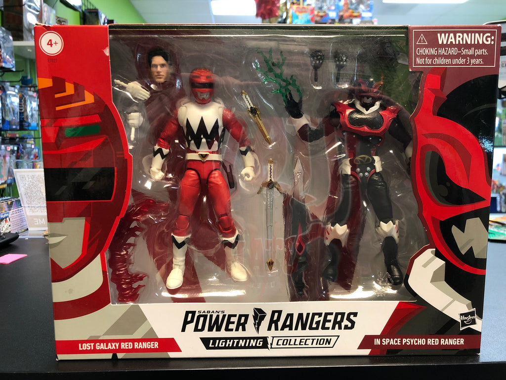Hasbro Saban's Power Rangers Lightning Collection LOST GALAXY RED RANGER AND IN SPACE PSYCHO RED RANGER