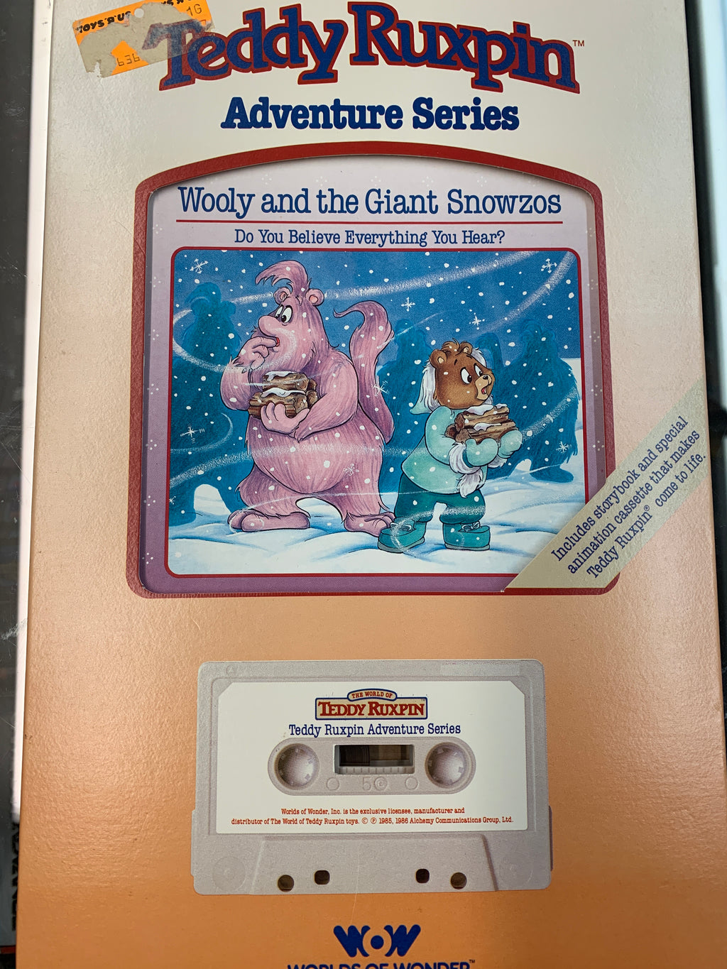 Teddy Ruxpin Adventure Series Wooly and the Giant Snowzos