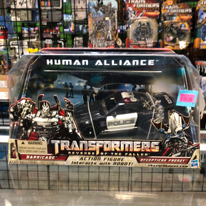 Hasbro Transformers Revenge of the Fallen Human Alliance Barricade and Decepticon Frenzy