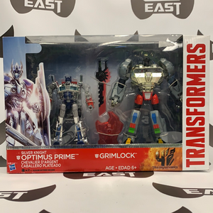 Hasbro Transformers Age Of Extinction Silver Knight Optimus Prime And Grimlock