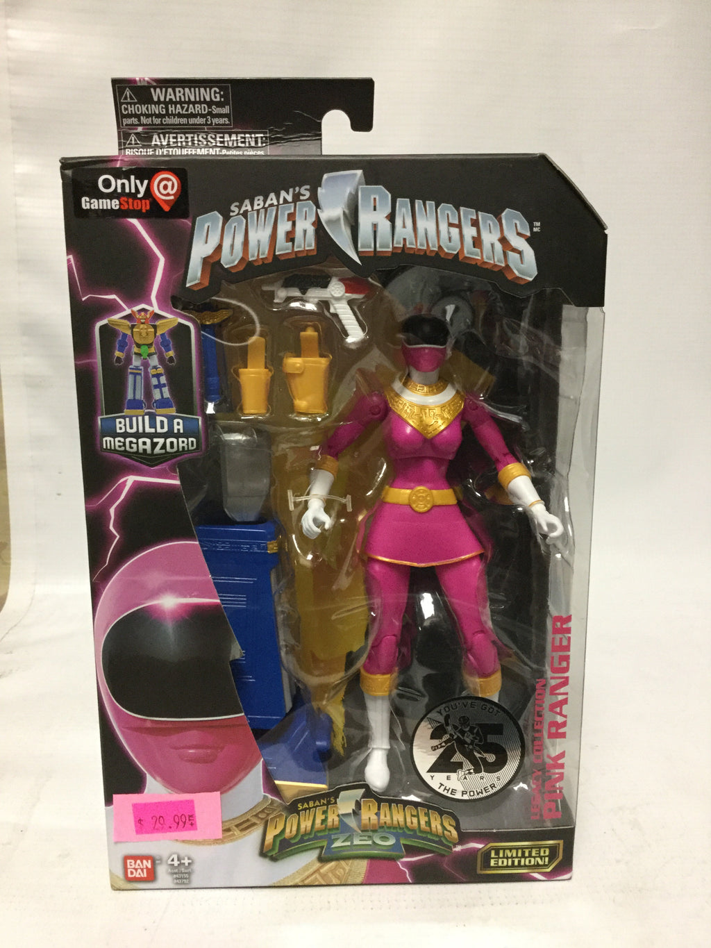 Baidai Saban's Power Rangers Zeo You've Got The Power 25 Years Legacy Collection Pink Rangers Gamestop Exclusive