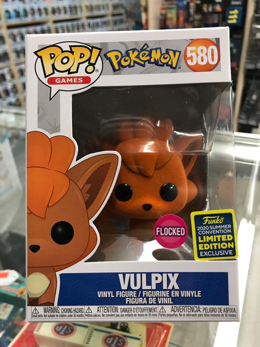 Funko POP! Games Pokemon Vulpix (flocked) #580 2020 Summer Con Exclusive