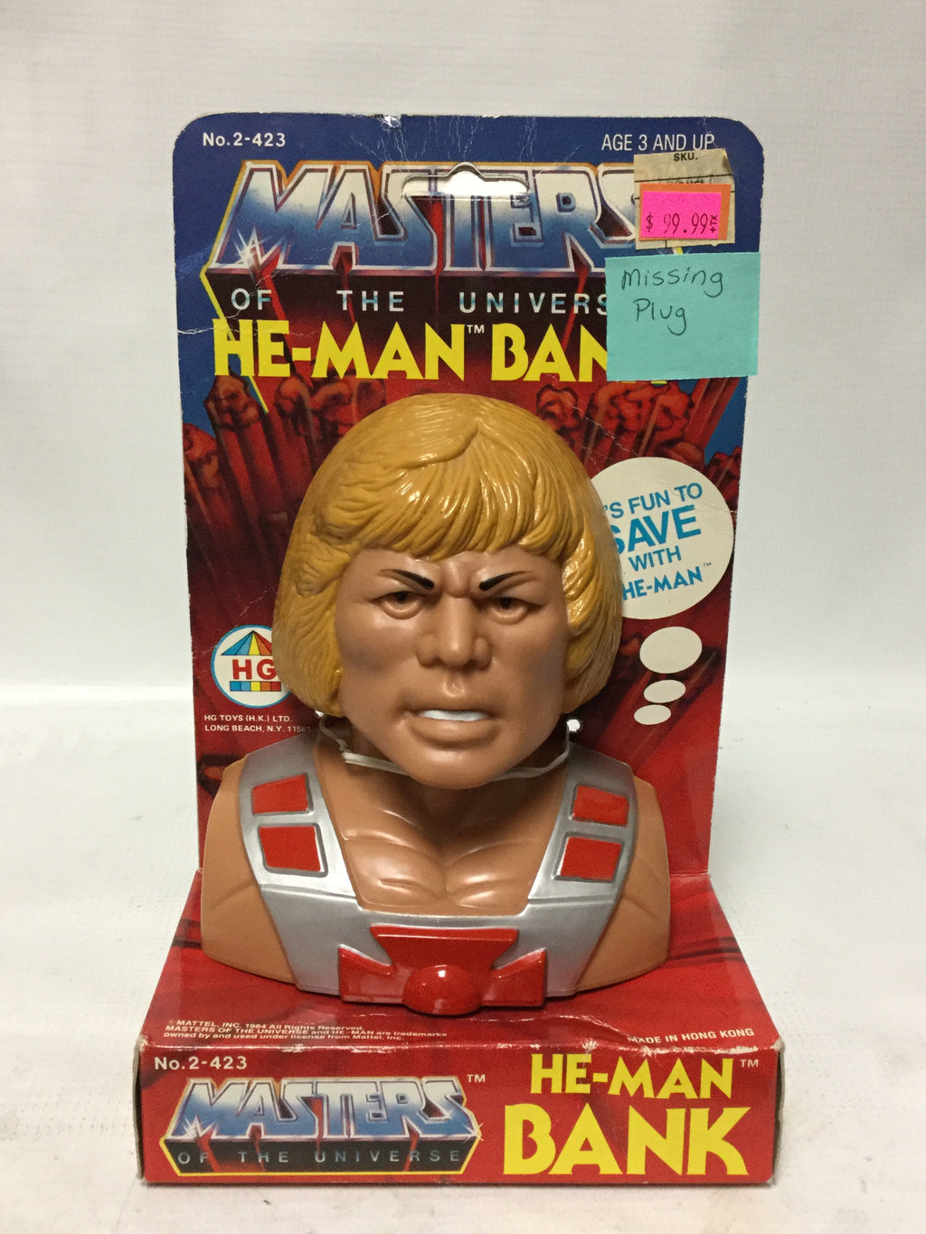 HG Masters Of The Universe He-Man Bank