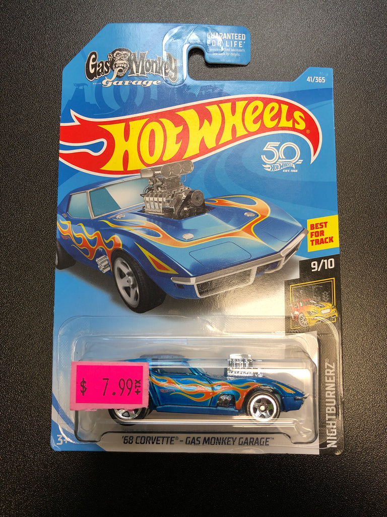 Mattel Hot Wheels NightBurnerz '68 CORVETTE - GAS MONKEY GARAGE