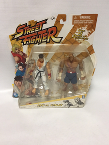 JAZWARES Street Fighter Ryu Vs. Sagat Two-Pack