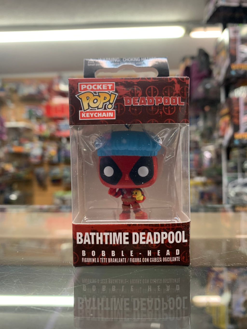 Funko POP! Pocket Keychain Bathtime Deadpool bobble-head