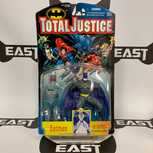 Kenner Total Justice Batman With Flight Armor And Glider Cape
