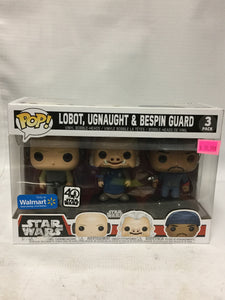 Funko POP! Star Wars Lobot, Ugnaught, & Bespin Guard 3 Pack Walmart Exclusive 40 Anniversary