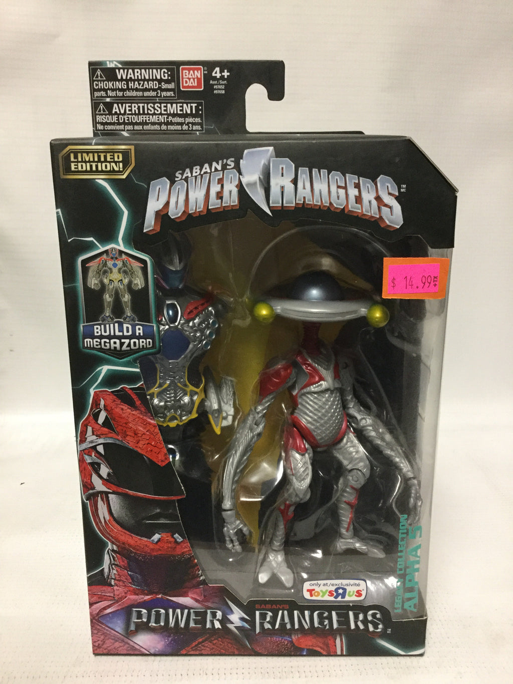 Bandai Saban's Power Rangers ToysRus Exclusive Legacy Collection Alpha 5