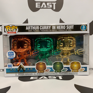 Funko POP! Heroes Aquaman Arthur Curry In Hero Suit Funko Limited Edition 3 Pack