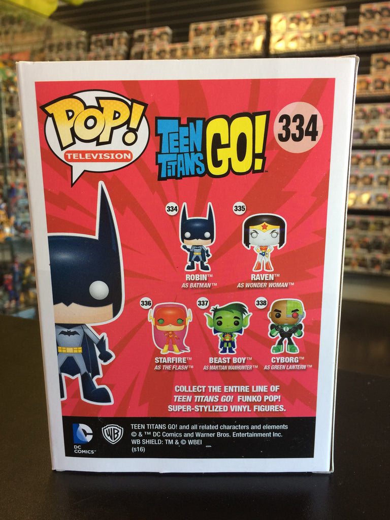 Funko Pop! Television Teen Titans GO! Robin as Batman #334 Toys'r'us exclusive
