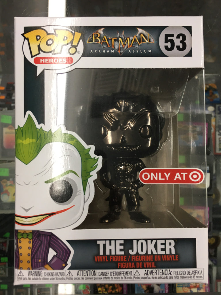 Funko POP! Heroes Arkham Aslylum The Joker (black chrome) #53 Exclusive