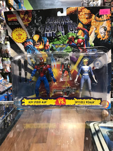 Toy Biz Marvel Comics Marvel Team Up New Spider-Man VS. Invisible Woman