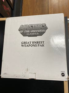 Mattel Masters of the Universe Classics Great Unrest Weapons Pak
