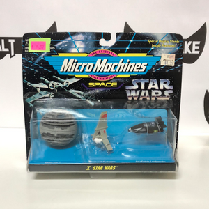 Galoob Micro Machines Star Wars X (Death Star II, Incom T-16 Skyhopper, and Lars Family Landspeeder)
