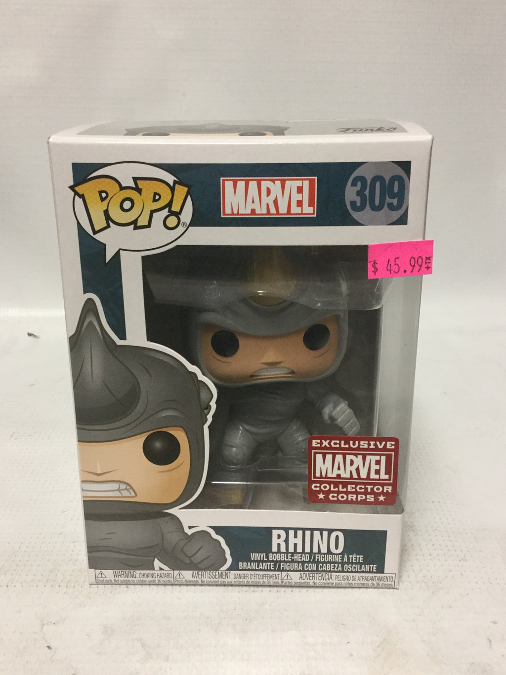 Funko POP Marvel 309 Rhino Marvel Collector Corps Exclusive