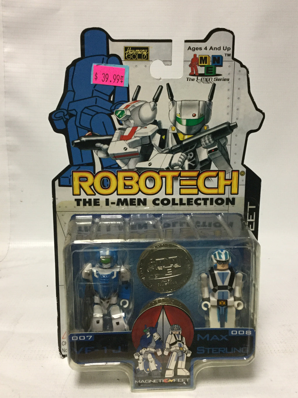 Toynami Robotech The 1-Men Collection 007 VF-1J And 008 Max Sterling
