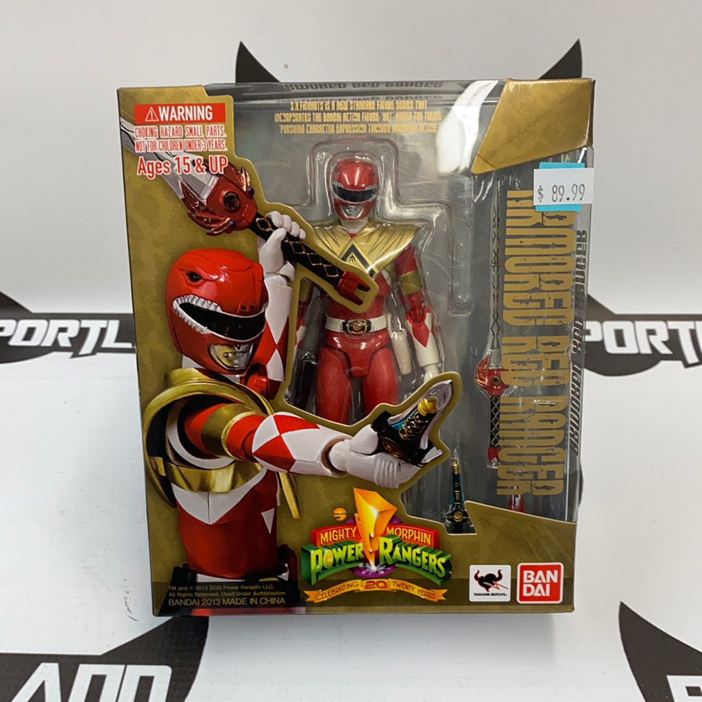 Ban Dai S.H. Figuarts Mighty Morphin Power Rangers Armored Red Ranger